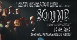 Plakat Chorkonzert Sound